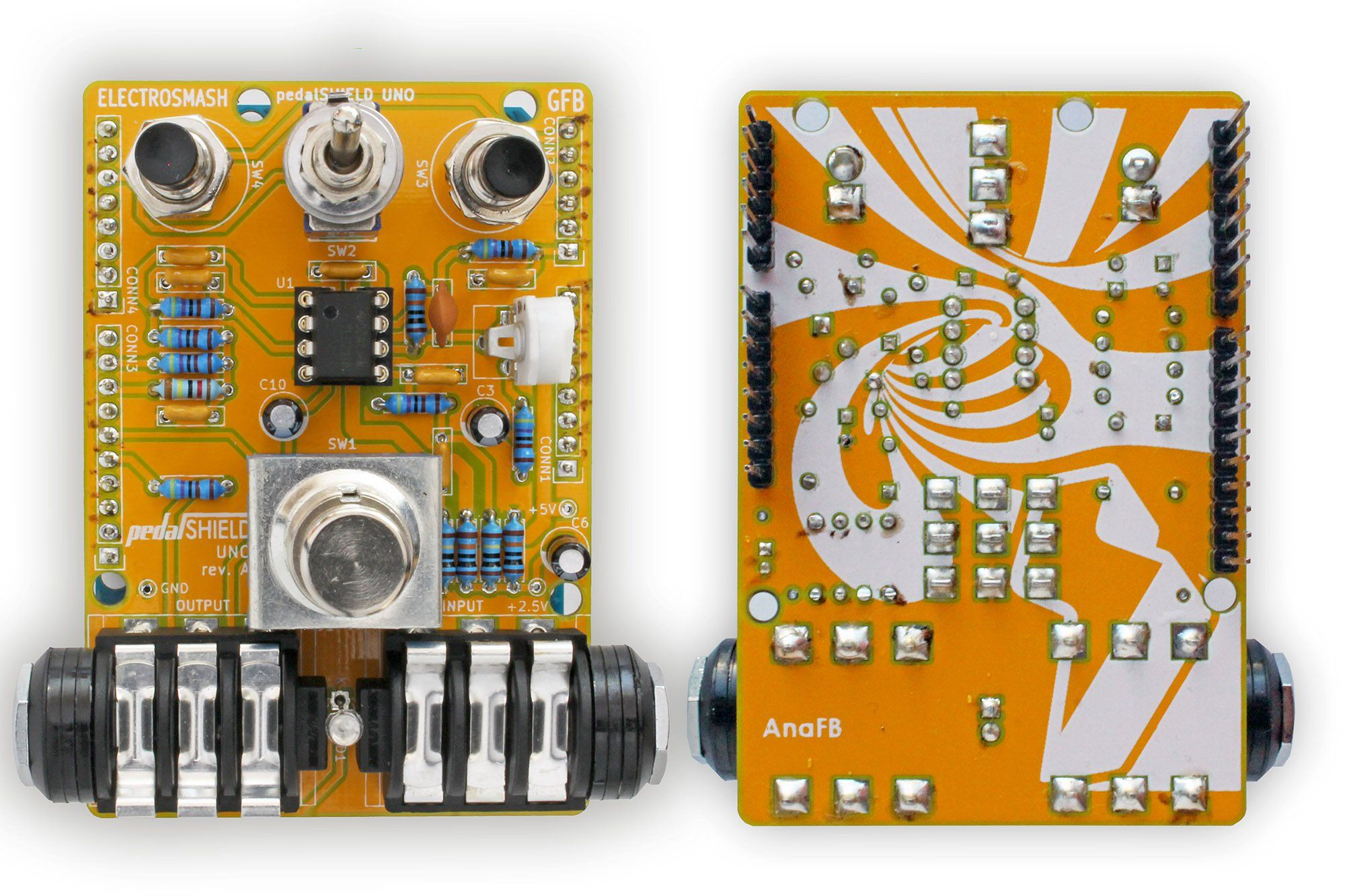 Build An Arduino Guitar Pedal Stompbox Amp Building 5v Symmetrical Regulated Power Supply 1a Electronicslab Construct With Easy To Find Parts And Youll Be Having Fun Creating Your Own Sounds In Not Time