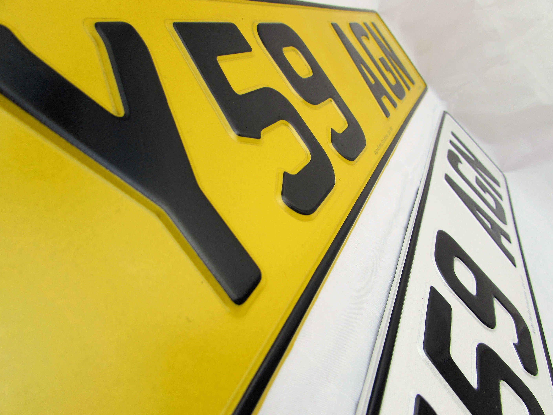 Metal Pressed Number Plates Embossed Licence Uk Car Legal Registration Velcro