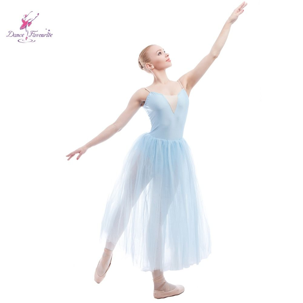 Cheap Ballerina Dance Costumes Buy Quality Tutus Adult Directly From China Ballet Tutu Suppliers Light Blue Long Romantic
