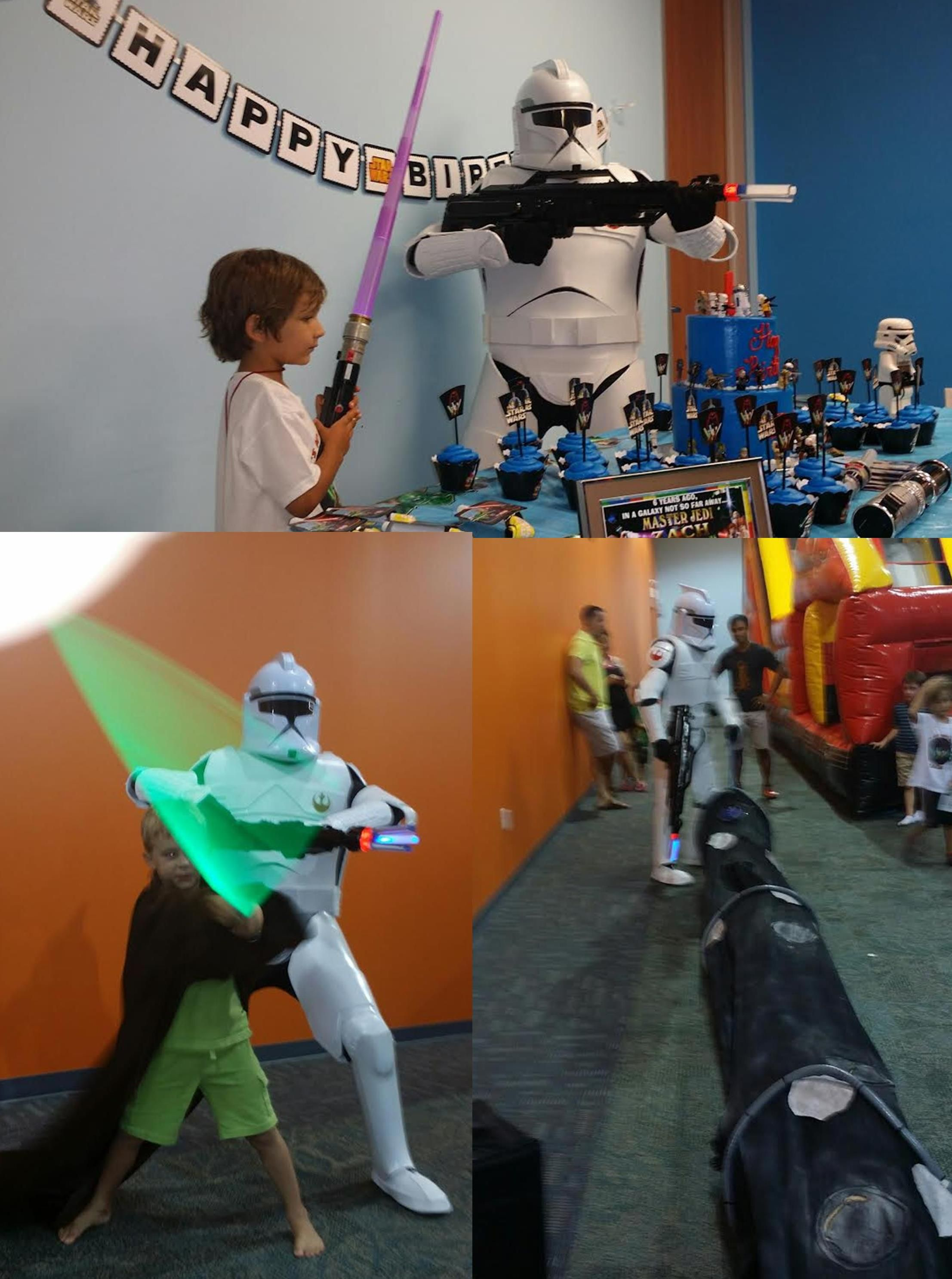 Clone trooper costumed character  & Jedi in Houston