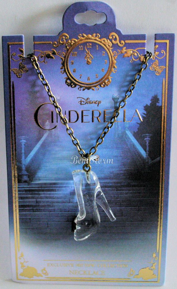 Disney CINDERELLA GLASS SLIPPER SHOE Butterfly Pendant NECKLACE Hot Topic EXC. | eBay
