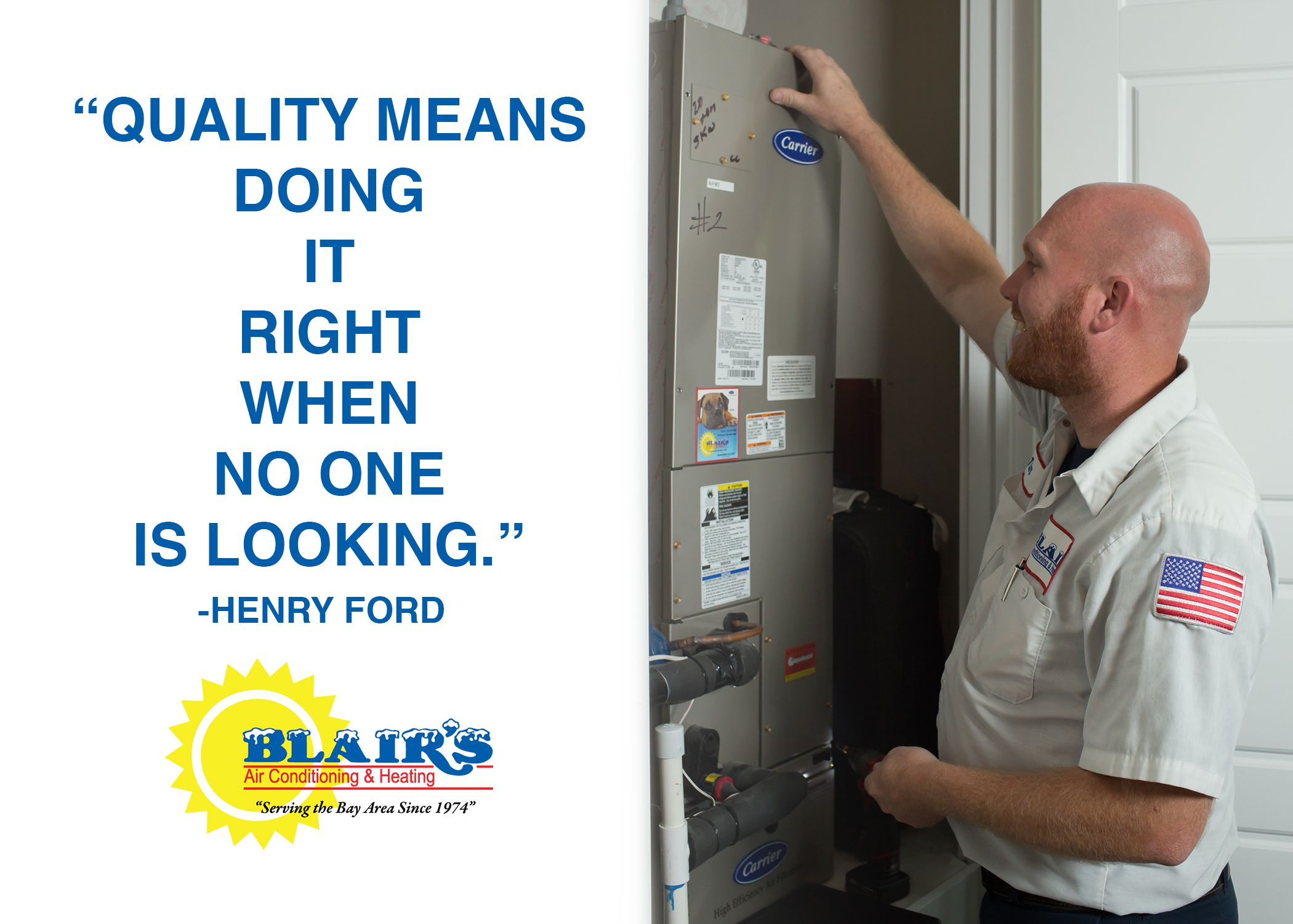 At Blair's Air Conditioning & Heating, we have one goal