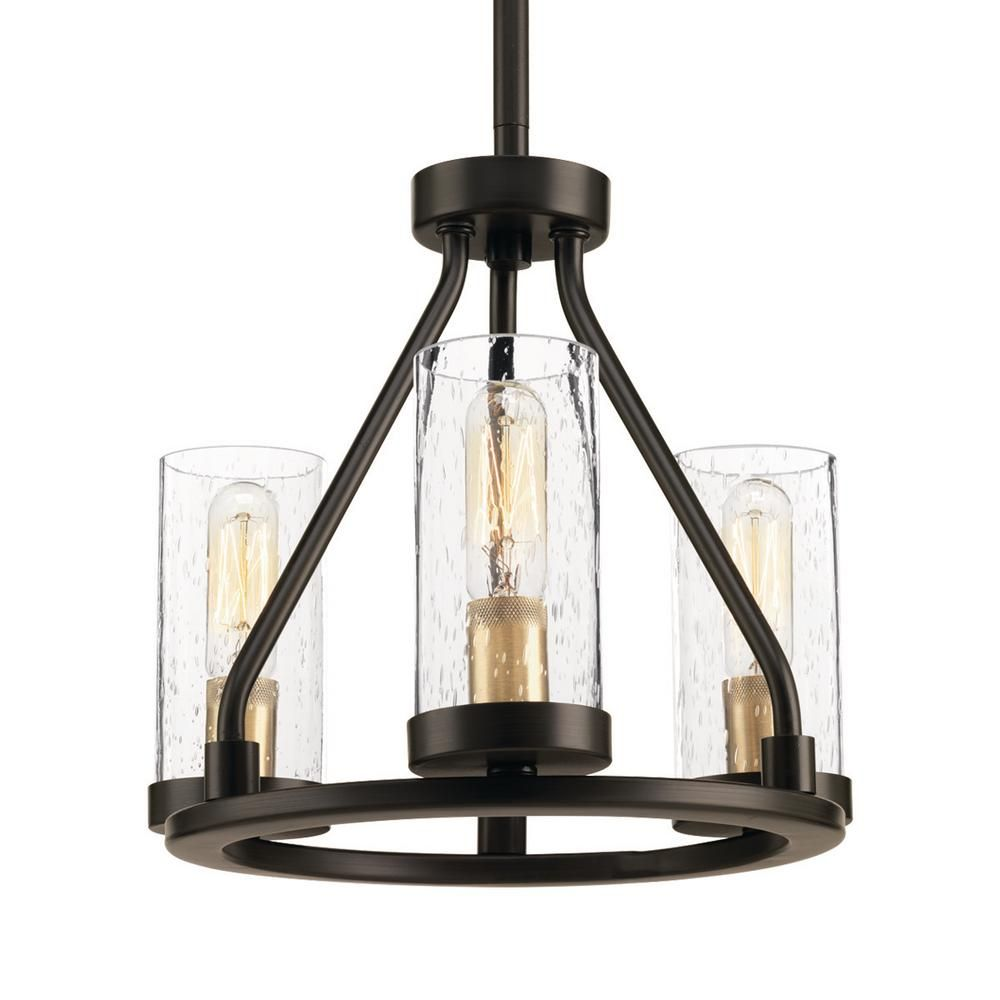 Progress Lighting Hartwell 3-Light Antique Bronze Mini ...