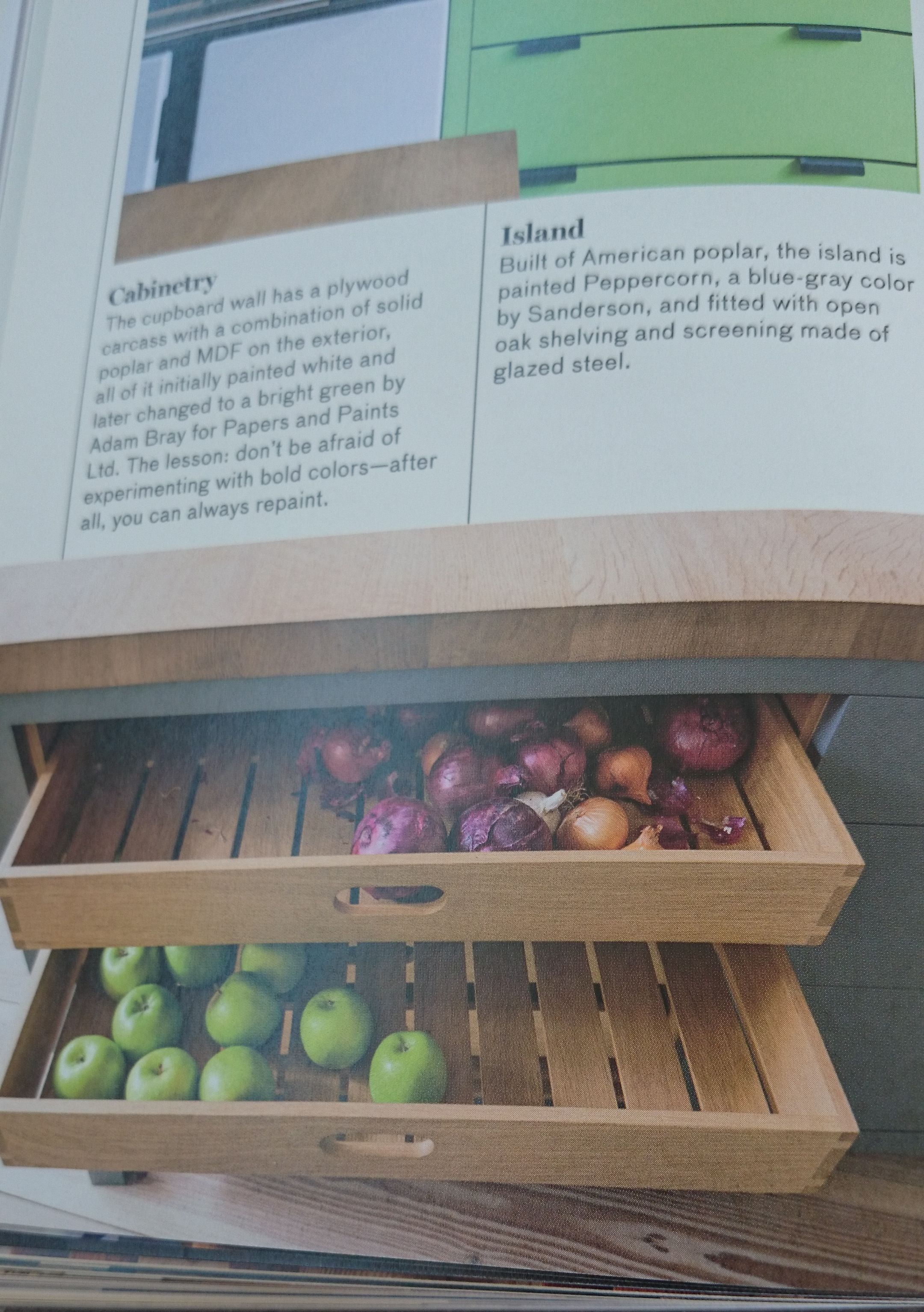 Smart cabinetry in coffee nook? perhaps root veges and spices/dry ...