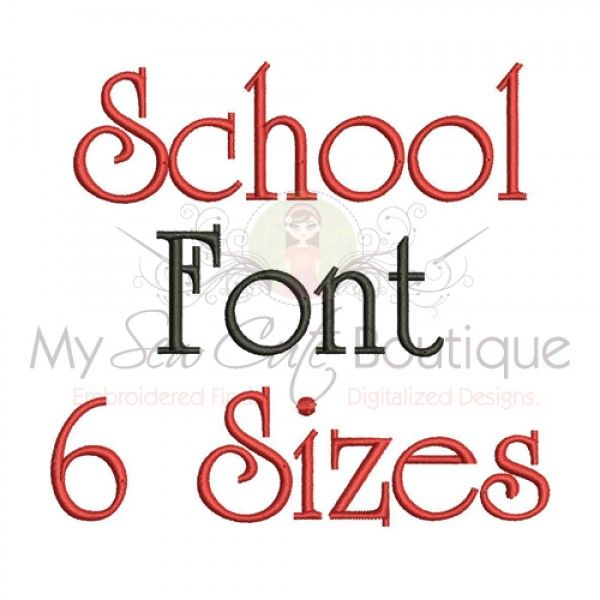 Embroidery Block Letters Font Machine Embroidery Font  Sizes