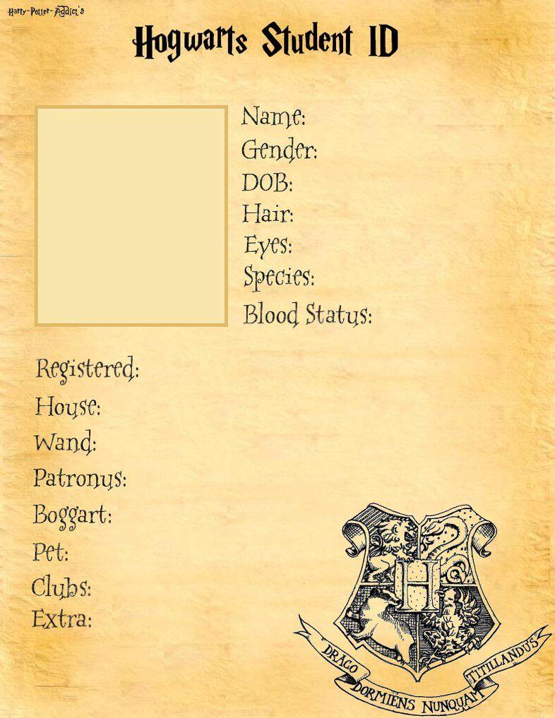 Hogwarts Student ID base. by ~Harry-Potter-Addict on deviantART