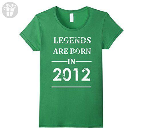 Womens Legends Are Born In 2012 T-shirt Funny Birthday Gift Kid Tee Medium Grass - Birthday shirts (*Amazon Partner-Link)