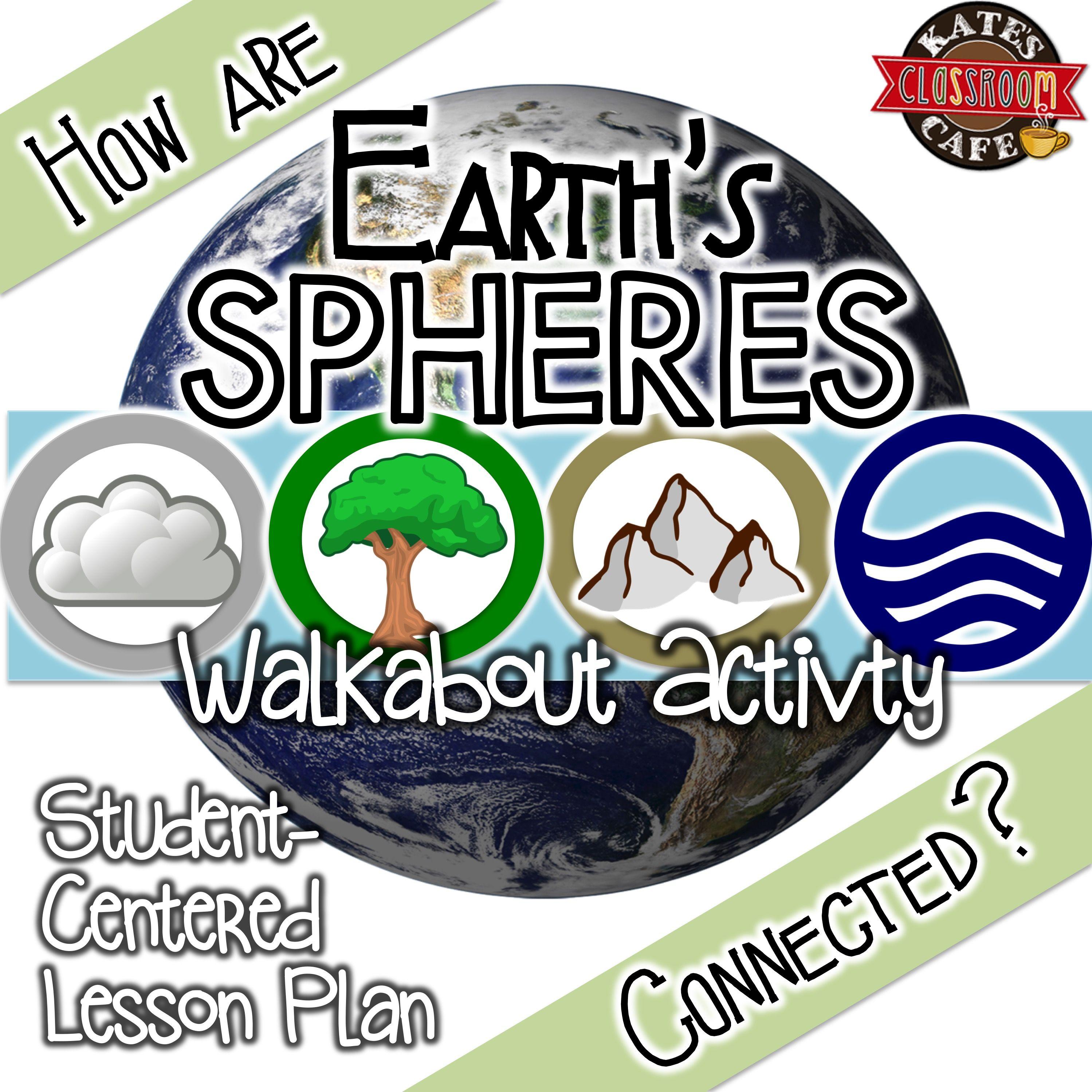 earth u0027s spheres biosphere hydro atmo geo walkabout activity
