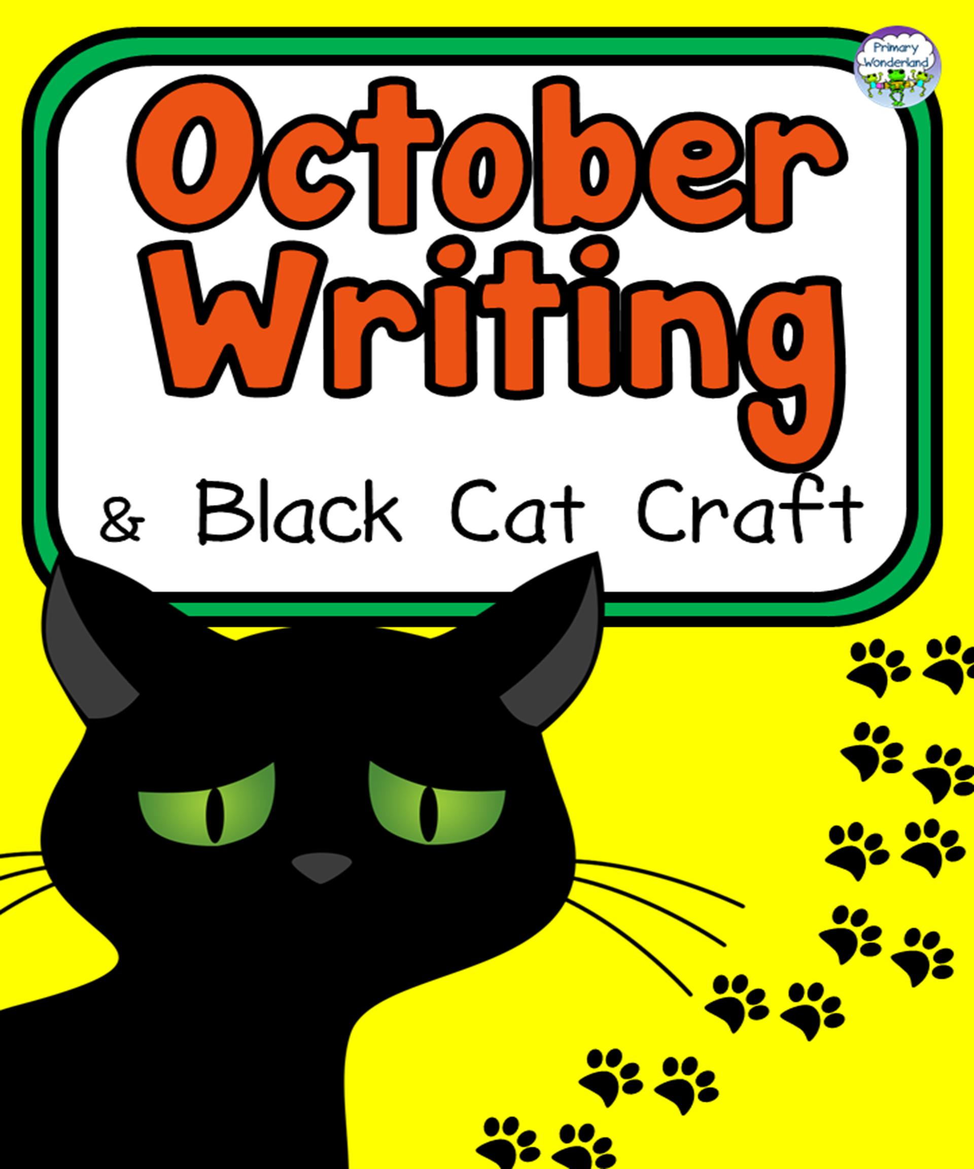 Fall Writing October Black Cat