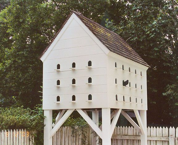 Colonial Federal House Style Handmade Solid Wood Birdhouse New England