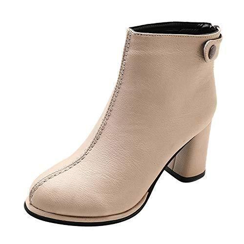 91db1e60034b3 Botines cuña para Mujer Otoño Invierno 2018 Zapatos de tacón Negro de Mujer  Zapatos de Trabajo Mujer Invierno Zapatillas Altas Botas de Gamuza Mujer  Zapatos ...