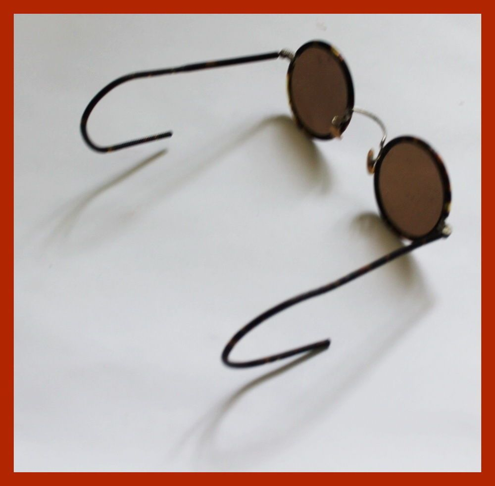 30s New WW2 USSR Teashades Retro Bakelite Round Lens Sunglasses Mother Day Gift