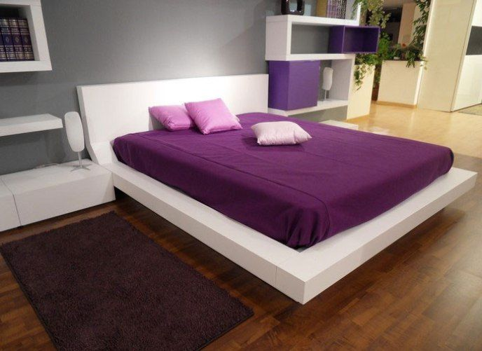 Grey Wall With Purple Con Imagenes Dormitorio De Diseno