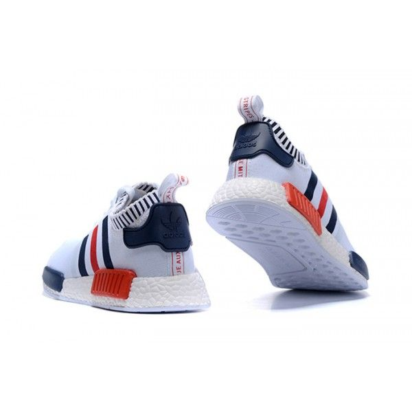 adidas-men-originals-nmd-runner-prim-white-blue-. Red SneakersAdidas ...