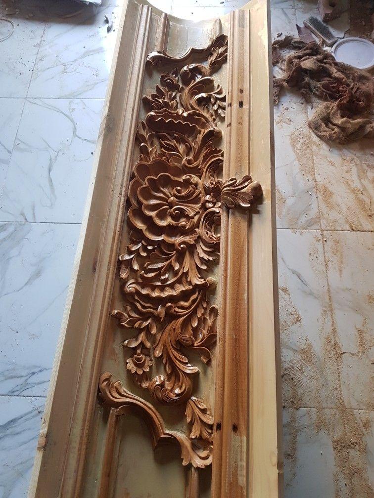كرانيش Architectural Ornamentation Classic Ceiling Wood Carving Designs
