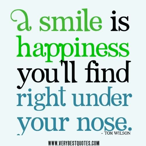 A Smile ツ Is Happiness You'll Find Right Under Your Nose.