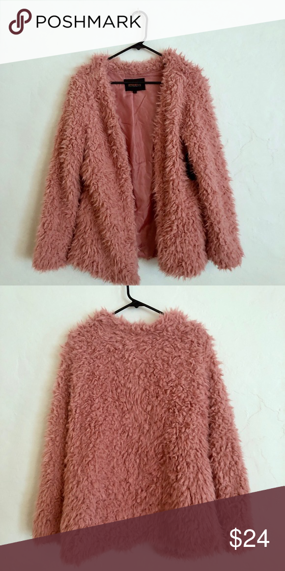 7d355899c 1 Day Sale* NWT Rose Colored Fuzzy Sweater Pink super soft oversized ...