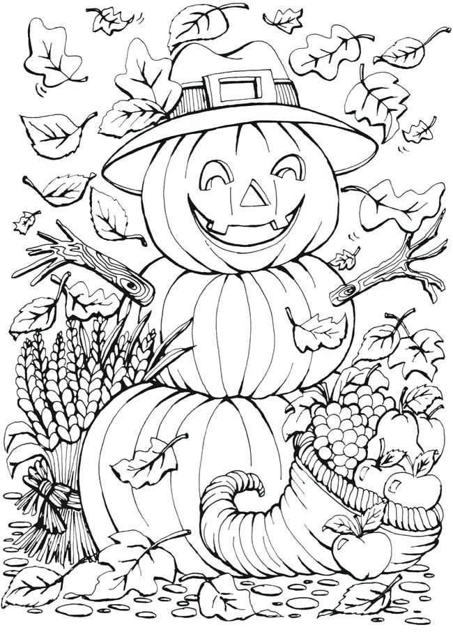 Pin By Barbe Mckittrick On Coloring Detailed Fall Coloring Pages Halloween Coloring Pages Pumpkin Coloring Pages