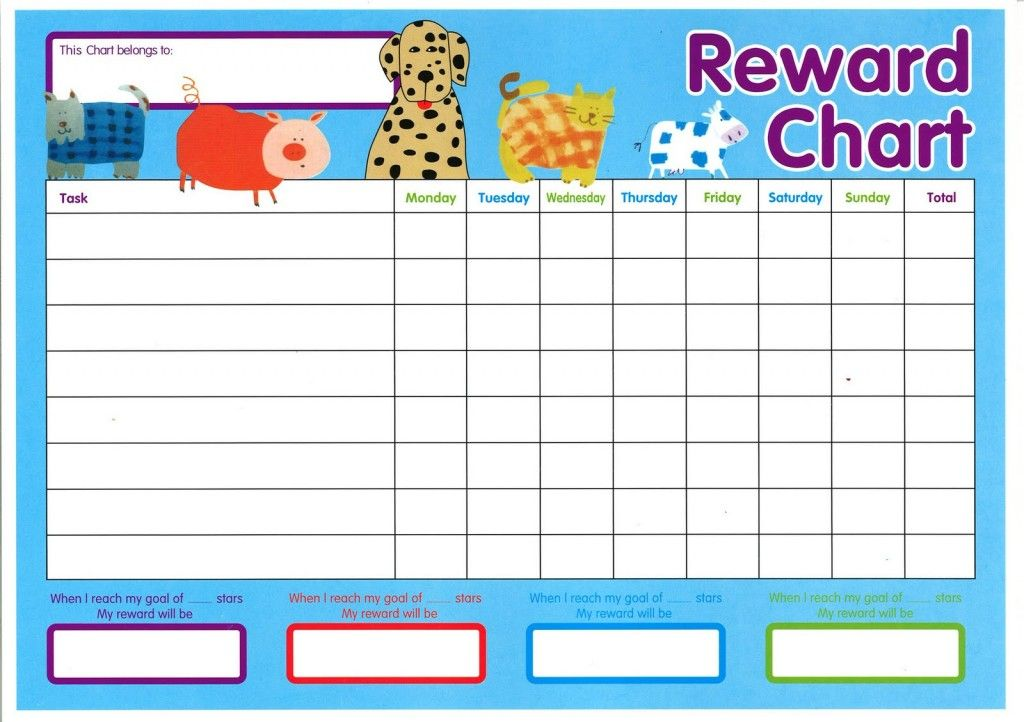Reward Chart Template 14 Printable Pinterest – Kids Behavior Chart Template