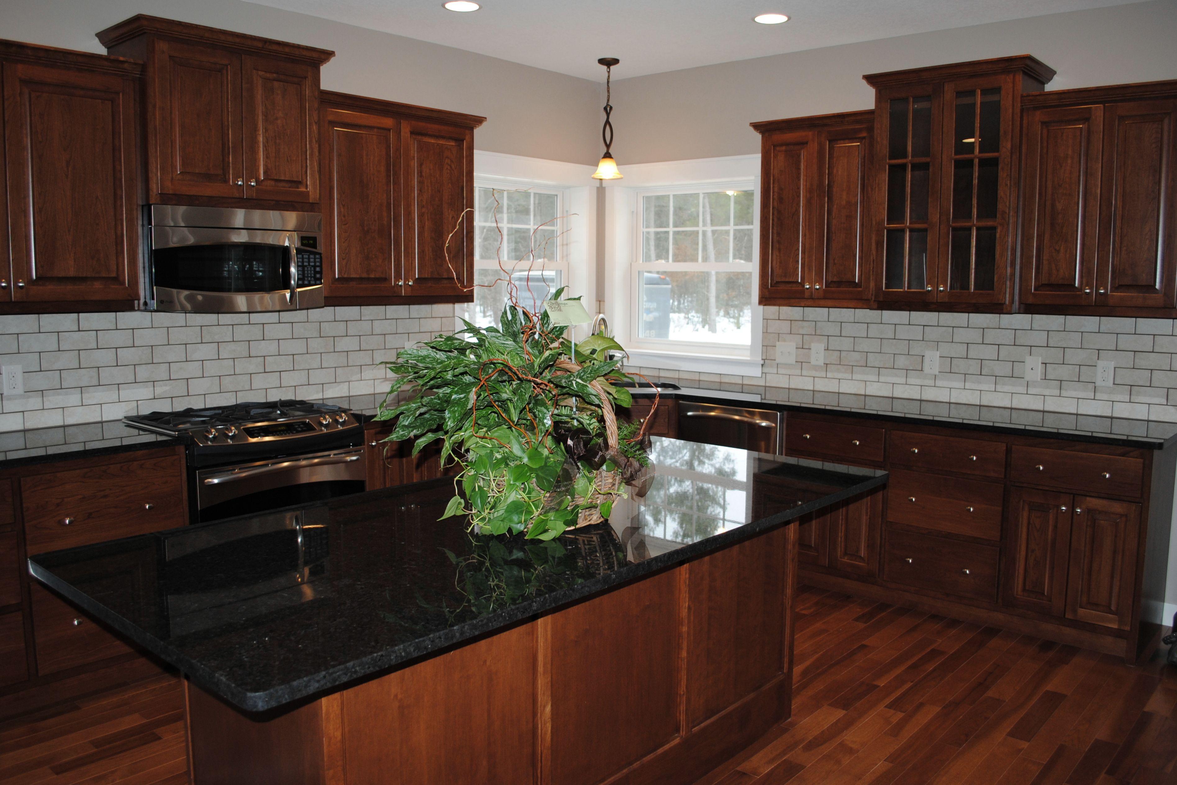 Black Pearl Stone Source Brown Kitchen Cabinets Black Countertops Black Granite Countertops