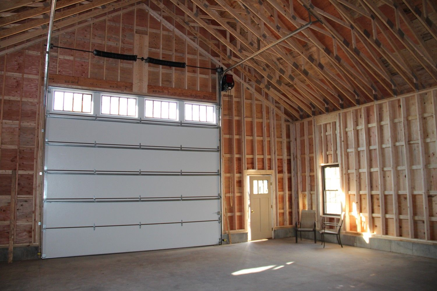 36 X 68 Newport Garage The Barn Yard Great Country Garages Home Building Tips Overhead Garage Door Cathedral Ceiling