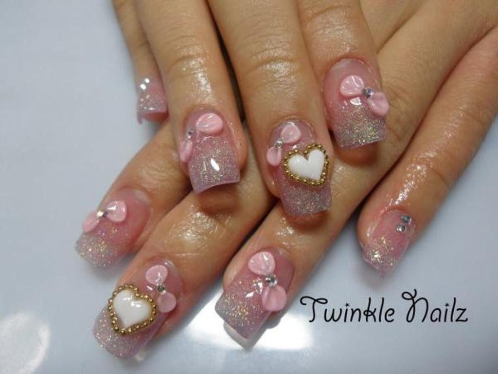 70 Hottest & Most Amazing 3D Nail Art Designs | Plain nails ...
