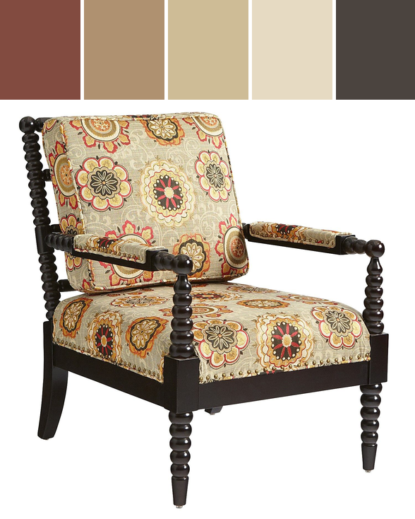 ... Diffe Fabric In Pier 1 S Jacobean Ocre Yes Bobbin Chair Suzani Designed  By · Living Room ... Part 91