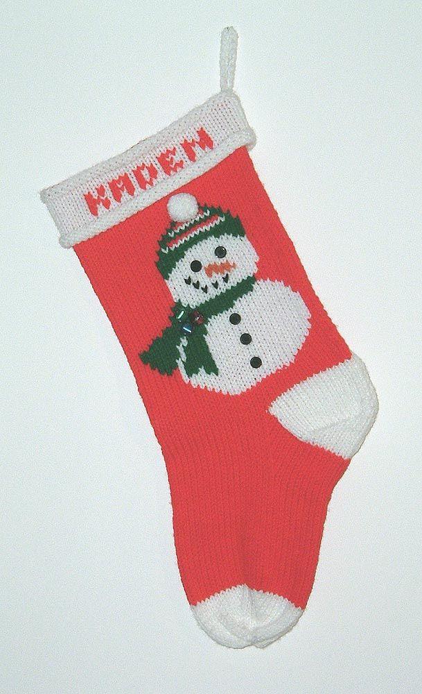 Custom knitted Christmas Stockings Knitting Pinterest Knitted
