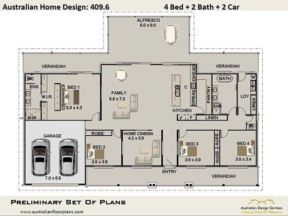 House Plans 4 Bed Study Home Plans For Sale 395 M2 Or Etsy In 2020 House Plans House Plans For Sale Cottage House Plans
