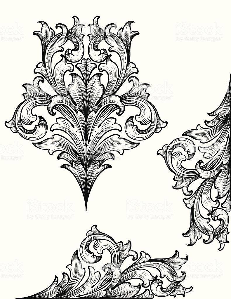 Designed By A Hand Engraver True Engraving Designs For Page Corners Filigrane Tatowierung Barock Tattoo Tattoo Ornamente