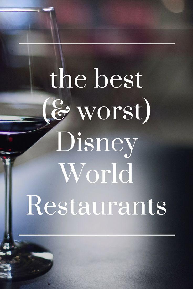 The worst and best restaurants at Disney world