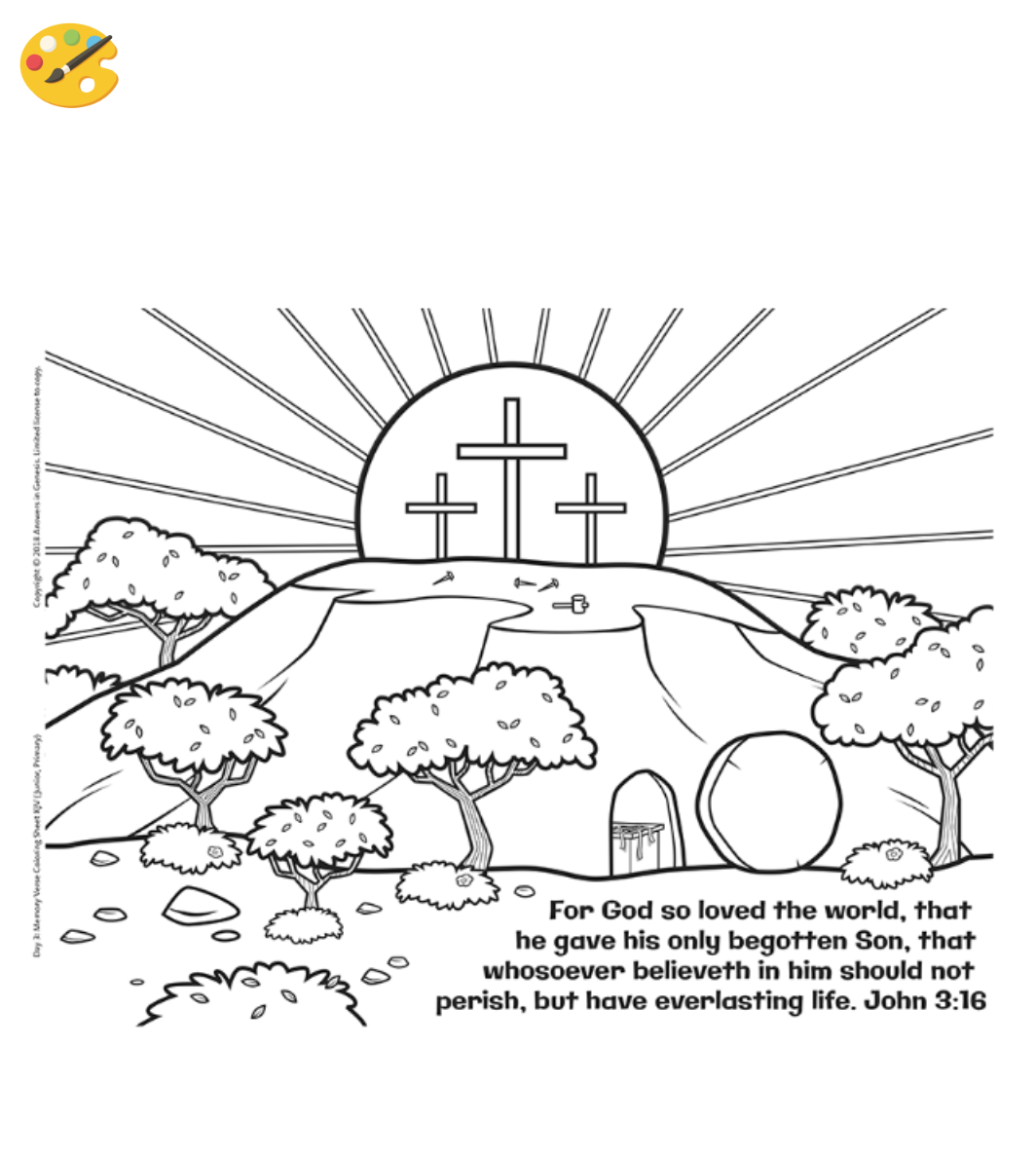 John 3 16 Coloring Sheet Color Coloring Coloringsheet