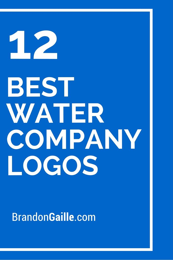 List Of The 12 Best Water Company Logos Logo