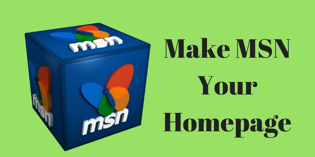How To Make MSN Homepage?
