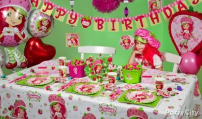 Strange Strawberry Shortcake Birthday Party Ideas From Party City Funny Birthday Cards Online Amentibdeldamsfinfo