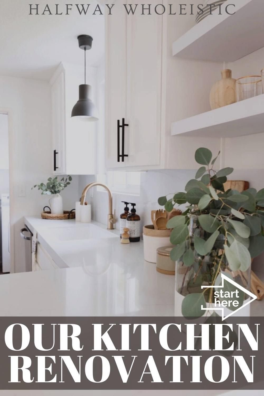 Click to see our kitchen renovation on Halfway Wholeistic! Kitchen home decor style ideas and kitchen design inspiration for your next kitchen renovation. Kitchen home decor style ideas and kitchen design inspiration for your next kitchen renovation. Best kitchen ideas remodeling budget small and kitchen remodel on a budget small diy. These are kitchen decorating ideas themes rustic and kitchen decorating ideas on a budget diy small spaces. #kitchen #renovation #home #EASYRECIPECHEF