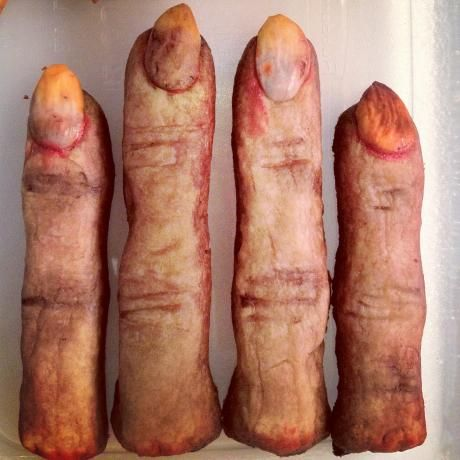 Severed Fingers Halloween Cookies Recipe Food Com