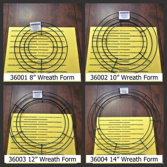 Wire Wreath Forms 8 10 12 And 14 Sizes Green 1 Pc Wire Wreath Forms Wreath Forms Wreaths