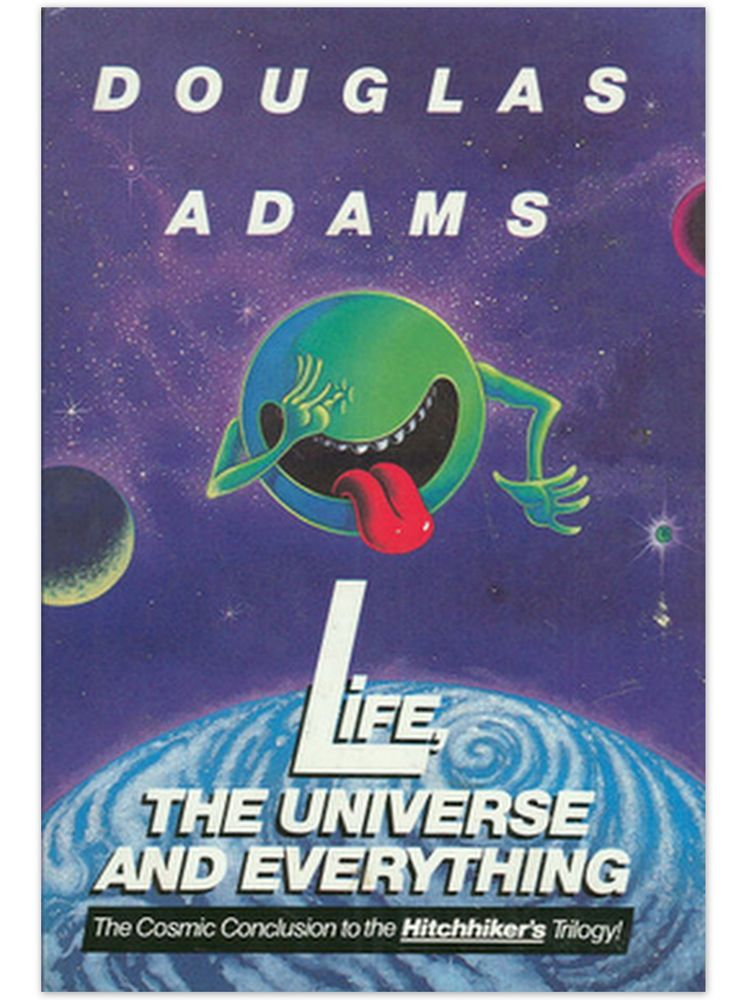 1st Ed Life The Universe And Everything By Douglas Adams 1st Hc Dj Hitchhikers Guide To The Galaxy Comic Book Crafts Douglas Adams