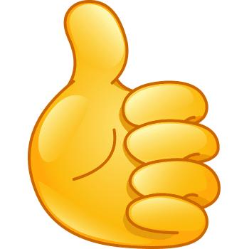 Thumb Up Emoji Texts Happy Emoticon Emoji