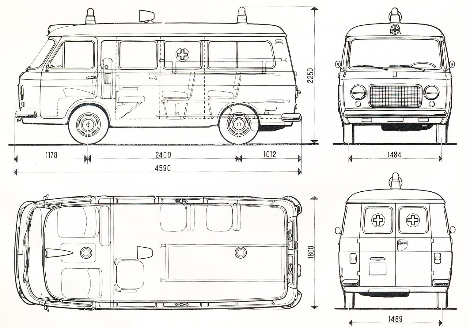 Fiat 238 blueprint | Blueprints | Pinterest | Fiat and Vehicle