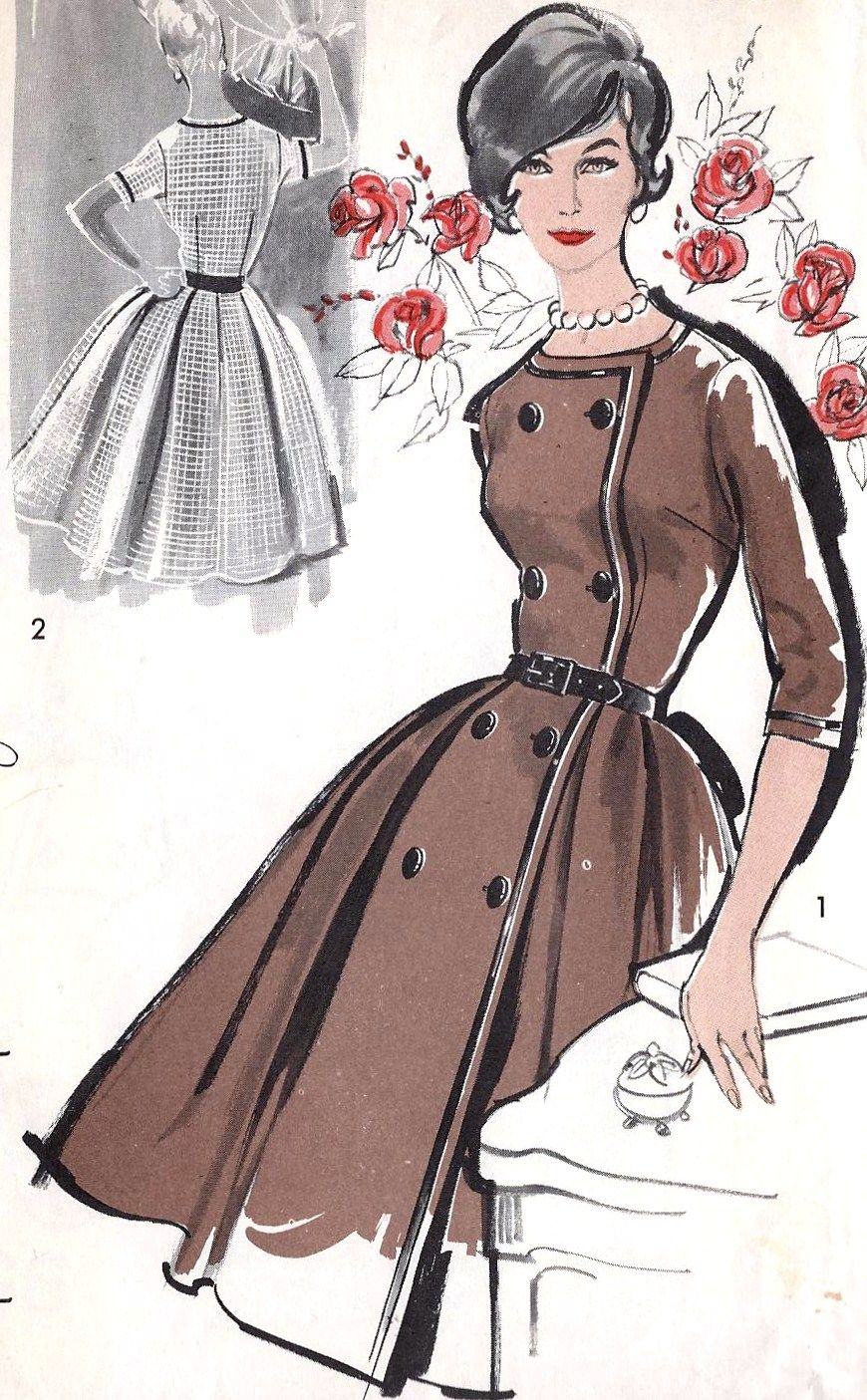 Double breasted 1960s loveliness (Advance 9512). #vintage #sewing #pattern…