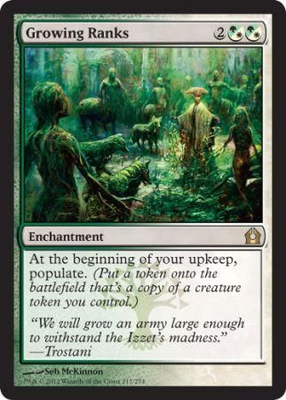 Growing Ranks Return To Ravnica Modern Legal Cards Magic The Gathering 1 09 Selsnya Any G Magic The Gathering Cards Magic The Gathering The Gathering