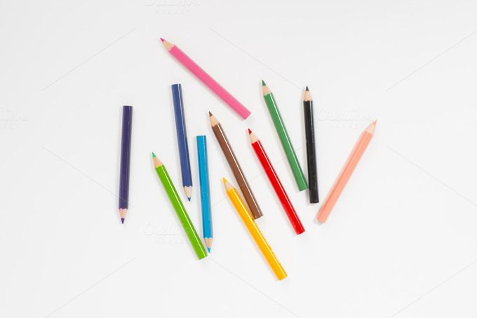 color pencils by Pushish Images on @creativemarket