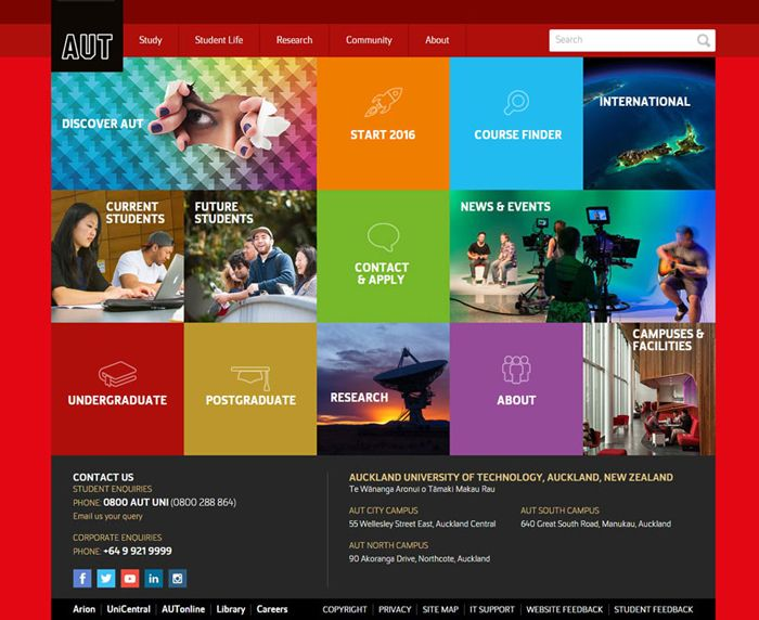 30 University And College Websites Inspiration Designyep Colleges And Universities University Website University