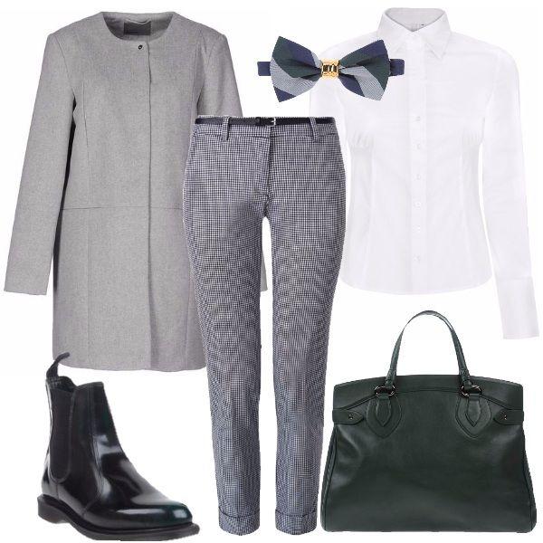 Outfit adatto allu0026#39;ufficio o ad un convegno pensato per una donna che lavora. Pantalone elegante ...