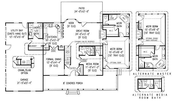 Country Style House Plans   2750 Square Foot Home , 2 Story, 6 Bedroom And  3 Bath, 2 Garage Stalls By Monster House Plans   Plan