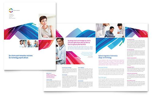 Software Solutions Brochure Template Design StockLayouts mmm - free brochure templates microsoft word