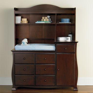 JCP -Savanna Bella Changing Table or Hutch - Espresso $149 | Nursery ...