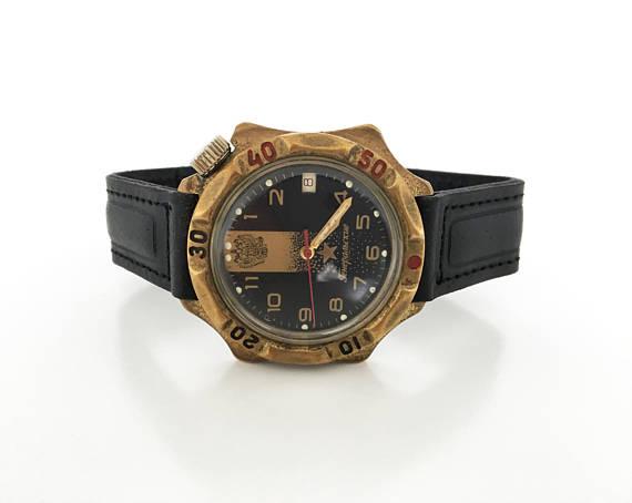 92273f2bba16 Soviet watch Russian watch Vintage Watch Men watch Mechanical watch vostok  komandirskie men s wrist